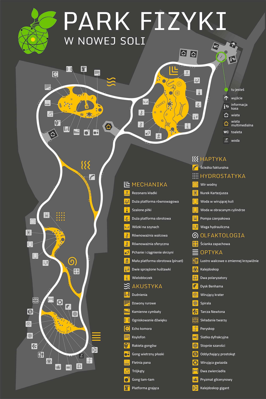 Mapa Park Fizyki Nowa Sól